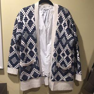 Madewell chunky knit cardigan Sz M